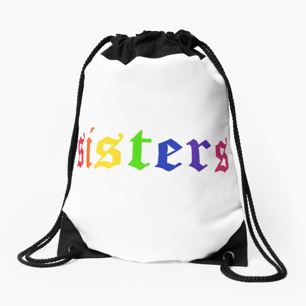 James Charles - Rainbow Sisters (White) Drawstring Bag