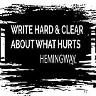 Write hard, be strong. Quotes from good & serious writers are a source of strength. by Monica Carroll
