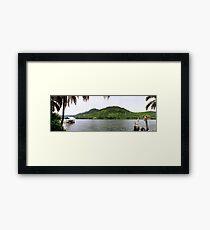 an unbelievable Ghana landscape Framed Print