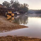 First Light at the Port of Echuca, Victoria by Christine Smith