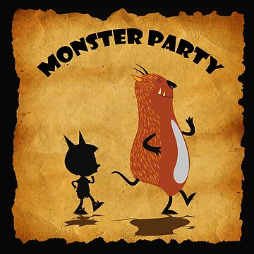 Monster Party Old Poster  by Desenatorul1976