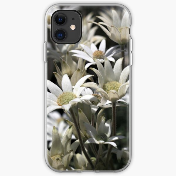 Flock of Flannel Flowers iPhone Soft Case