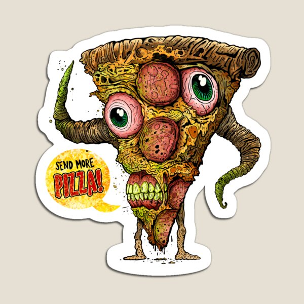 ZOMBIE PIZZA Magnet