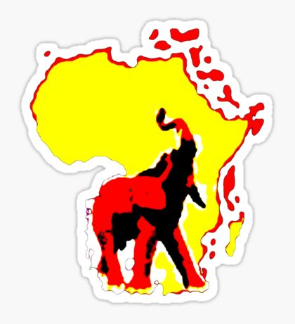 african elephant t-shirt Sticker