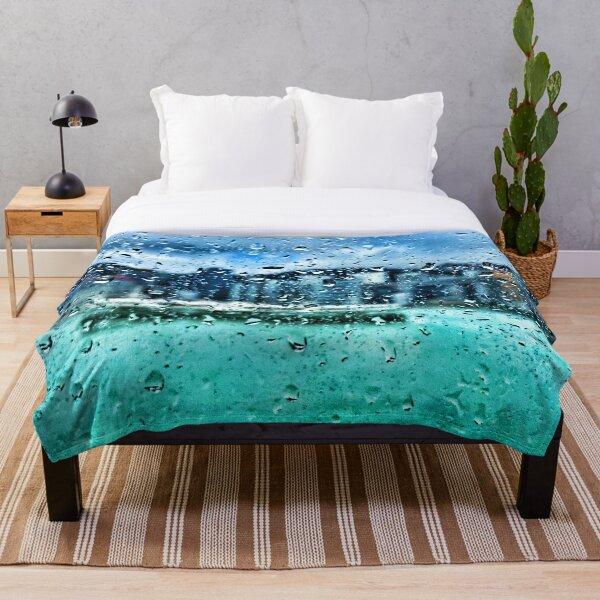 Hong Kong Typhoon Tapestry Throw Blanket
