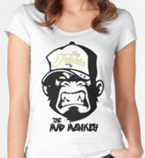 Ink Junkie - Tattoo Art - Monkey Cartoon Women's Fitted Scoop T-Shirt