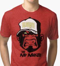 Gangster - Thug - Monkey Cartoon - Delinquent Nato Tri-blend T-Shirt