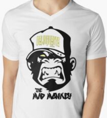 Gangster - Thug - Monkey Cartoon - Delinquent Nato Men's V-Neck T-Shirt
