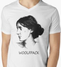 WOOLFPACK Men's V-Neck T-Shirt