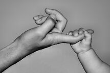 Father & Son Holding On by Carole-Anne