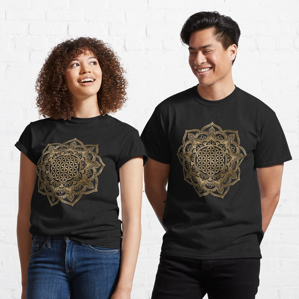 Flower of Life in Lotus - pastel golds and canvas Classic T-Shirt