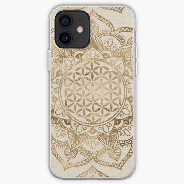 Flower of Life in Lotus - pastel golds and canvas iPhone Soft Case