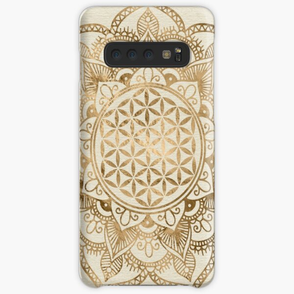 Flower of Life in Lotus - pastel golds and canvas Samsung Galaxy Snap Case