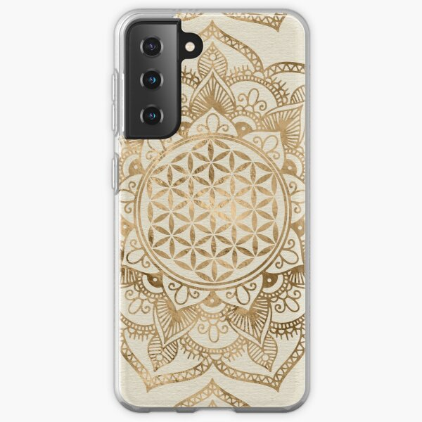 Flower of Life in Lotus - pastel golds and canvas Samsung Galaxy Soft Case