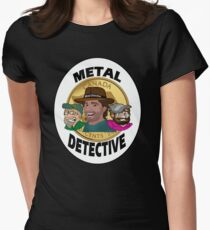 Metal Detective Women's Fitted T-Shirt