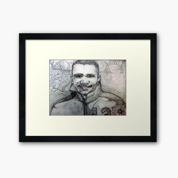 Johnny Bright --The Edmonton Eskimos 1959 Framed Art Print