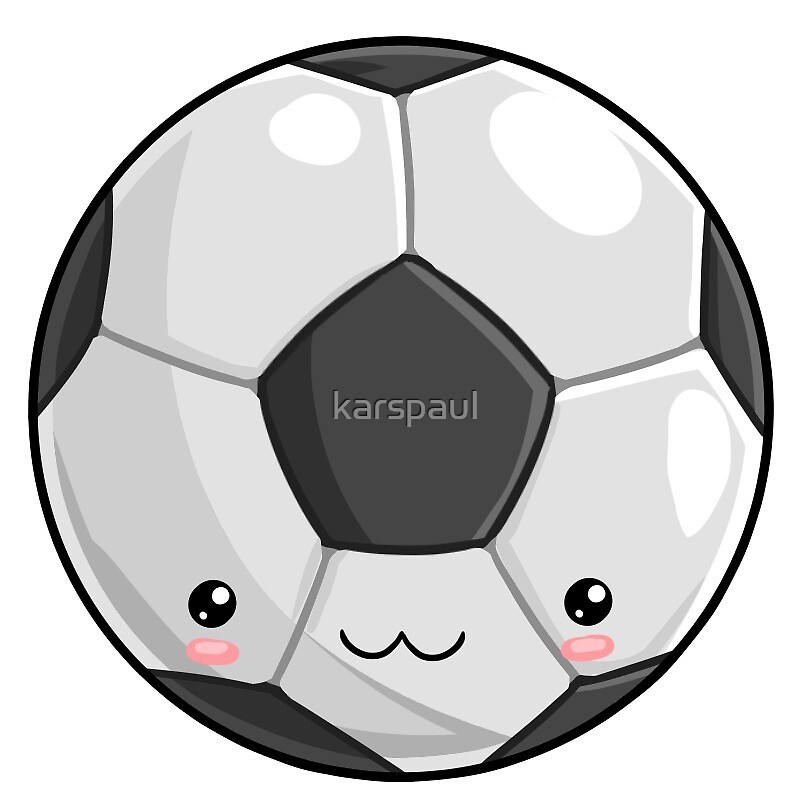 Ballon De Foot Kawaii Par Karspaul Redbubble