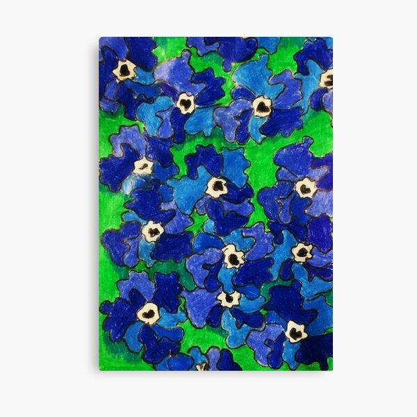 Blue Petunia's. Canvas Print