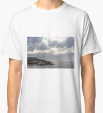 Rays of Light Shining Down on the Mediterranean Coast of Italy Classic T-Shirt