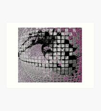 Disco Ball Eye #2 Art Print