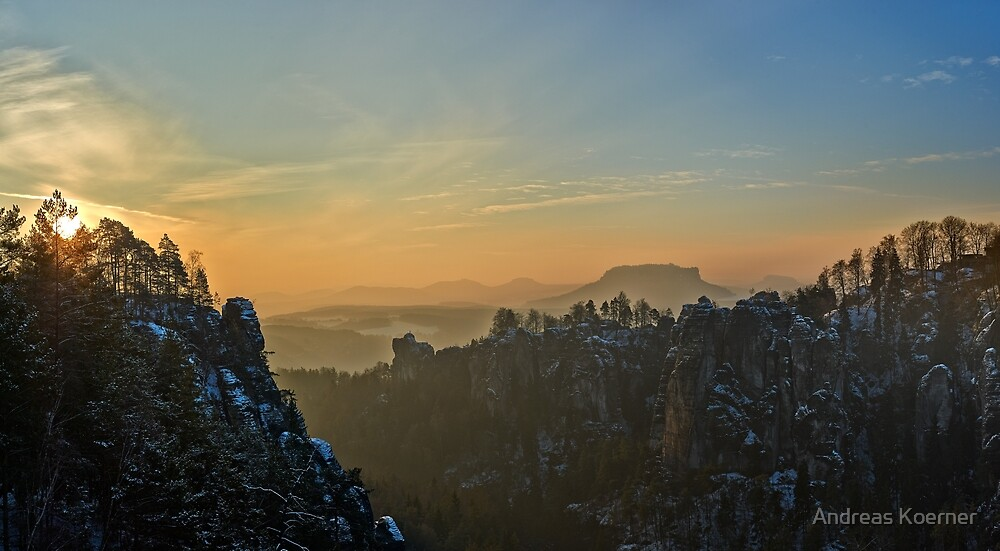"""Wide Saxon Switzerland"" by Andreas Koerner"