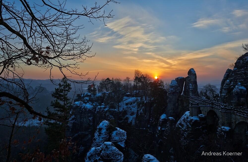"""""""Good Morning Rock Castle Rathen"""" by Andreas Koerner"""