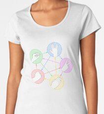 Schere Stein Papier Echse Spock Frauen Premium T-Shirts