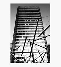 Steely Tubes and Skyscraper Photographic Print
