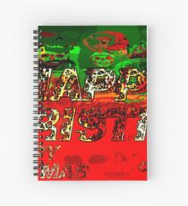 skulls red and green happy christmas  Spiral Notebook