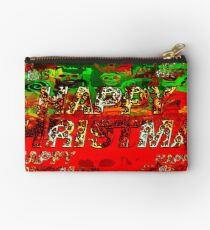 skulls red and green happy christmas  Studio Pouch
