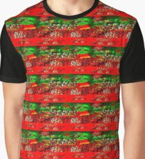 skulls red and green happy christmas  Graphic T-Shirt
