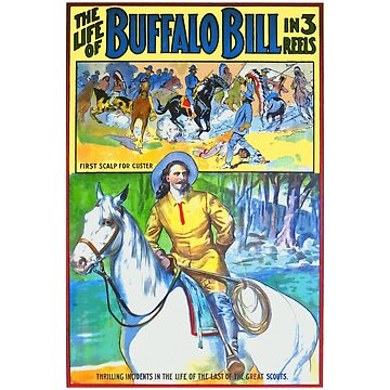 The Life of Buffalo Bill (1912 Film) Vintage Poster by Chunga