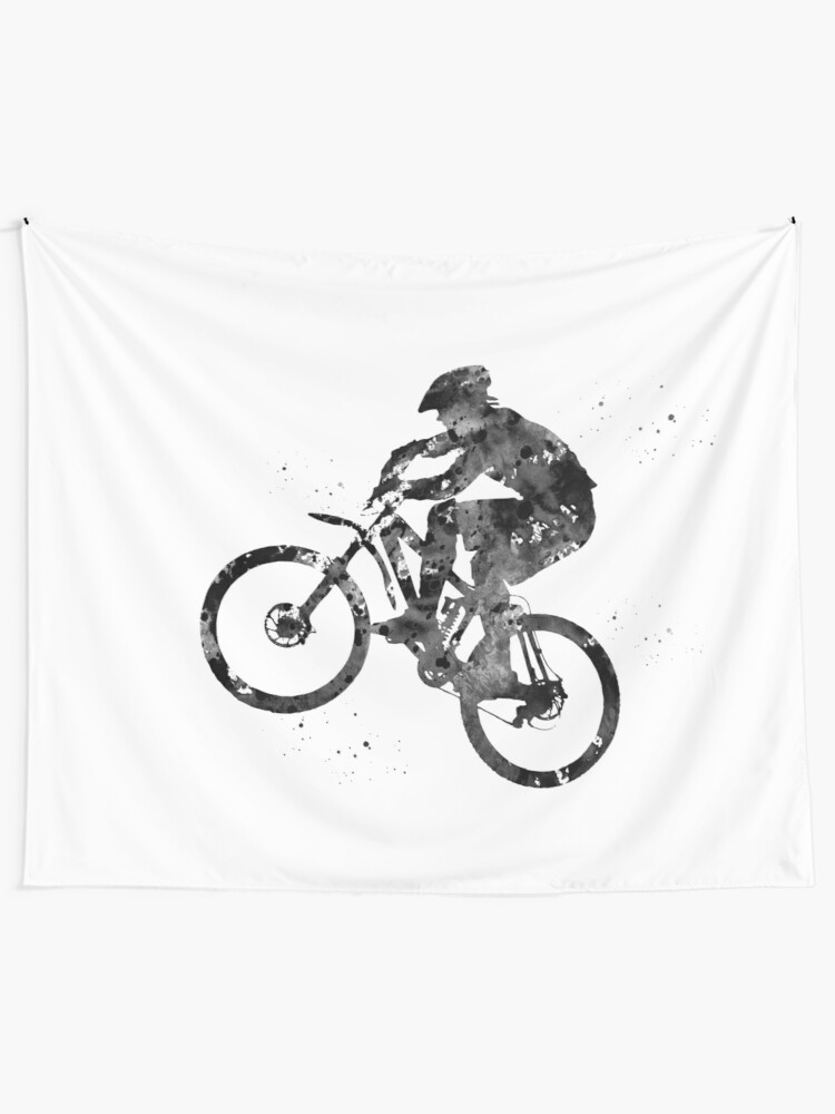 Bike Watercolor Print Dirt Bike Mountain Biker Poster BMX Biking Extreme Sport