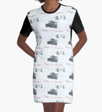 Landrover Christmas  Graphic T-Shirt Dress