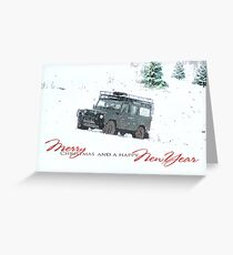 Landrover Christmas  Greeting Card