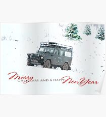 Landrover Christmas  Poster