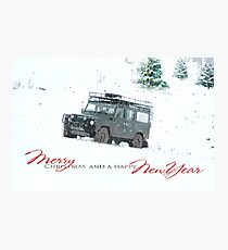 Landrover Christmas  Photographic Print