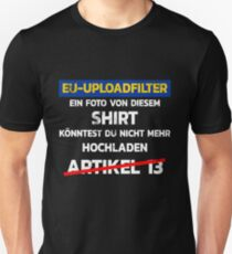 #SaveYourInternet Shirts und Bekleidung #SaveYourInternet rettet das Internet Meinungsfreiheit Shirt Unisex T-Shirt