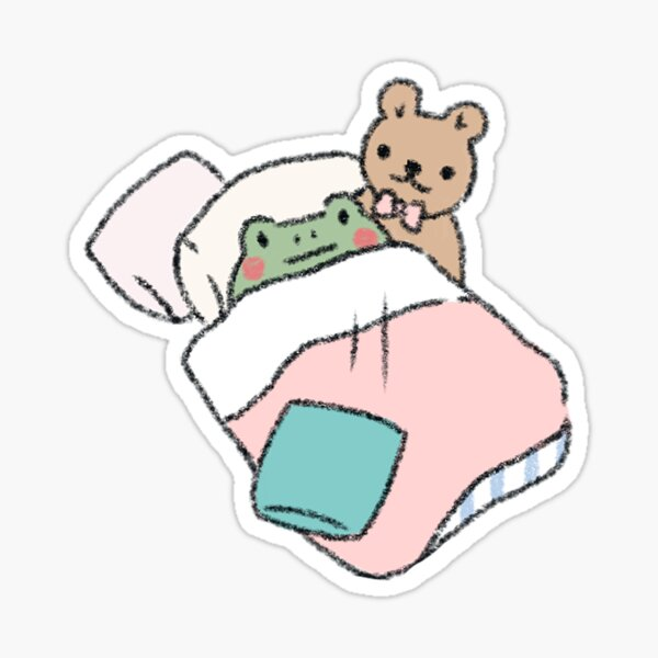 Sleepy frog Sticker