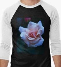 Blushing Pink Rose Men's Baseball ¾ T-Shirt