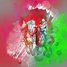 poloplayer red abstract von Rhea Silvia Will