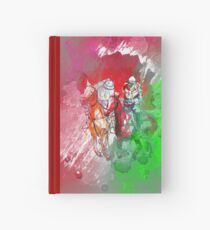 polo player red abstract Hardcover Journal