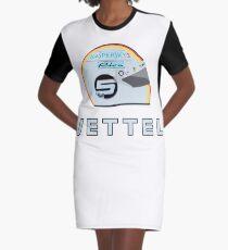 Sebastian Vettel 2018 Helmet Graphic T-Shirt Dress