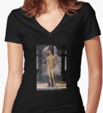 Sébastien et la Vénus callipyge T-shirt col V femme
