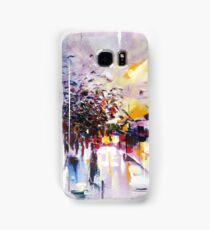 Birds on the street ( abstract city street landscape ) Samsung Galaxy Case/Skin