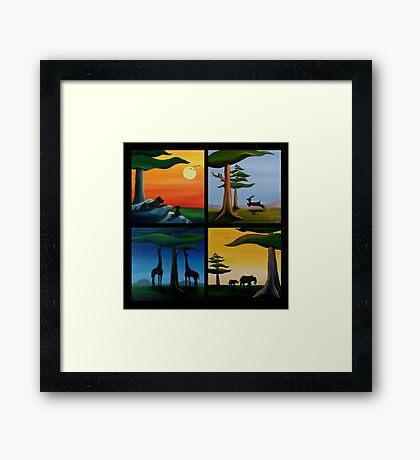 Four Squares Framed Print