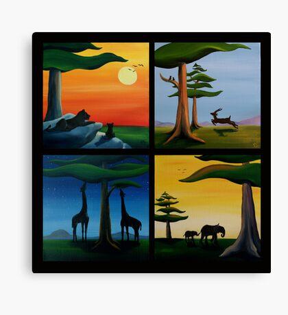 Four Squares Canvas Print