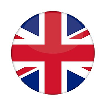 UK Flag button by S-p-a-c-e