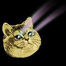 Funny Cat Laser Eyes by electrovista