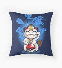 Lucky Meowth Throw Pillow